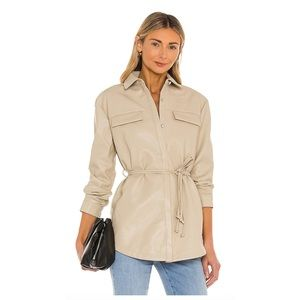 NWT Faux Leather Shirt Jacket